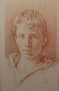 Henry B. – Pencils on Ingres Paper – 52×33 cm