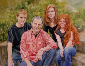 Bates Family – Oil on Canvas – 90×115 cm